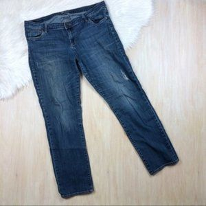 Kut from the Kloth Blue Denim Distressed Jeans 16